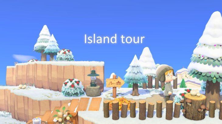 【あつ森】冬のカカロッ島を紹介します【島紹介】【あつまれどうぶつの森】飛行場前から案内所周り、お店周り、湖、住宅街までを紹介