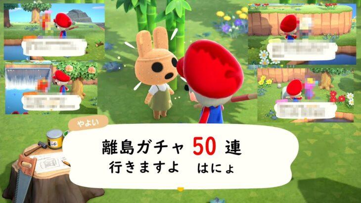 【あつ森】寝起きで離島ガチャ50連してみた【あつまれどうぶつの森】#8-1