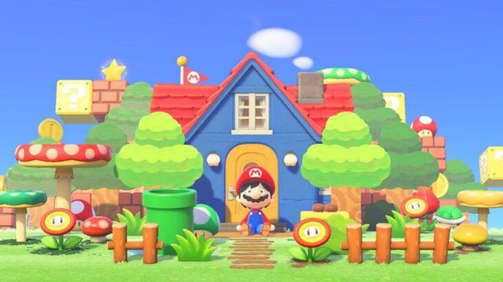 【あつ森】マリオのおうち 島クリエイト【あつまれどうぶつの森】マリオ家具を使ってカラフルでポップなマリオのおうちを作る
