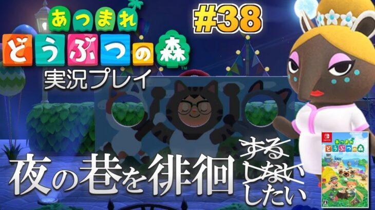 【あつ森】夜の巷を徘徊したい!あつまれ どうぶつの森 実況プレイ!#38【Switch】