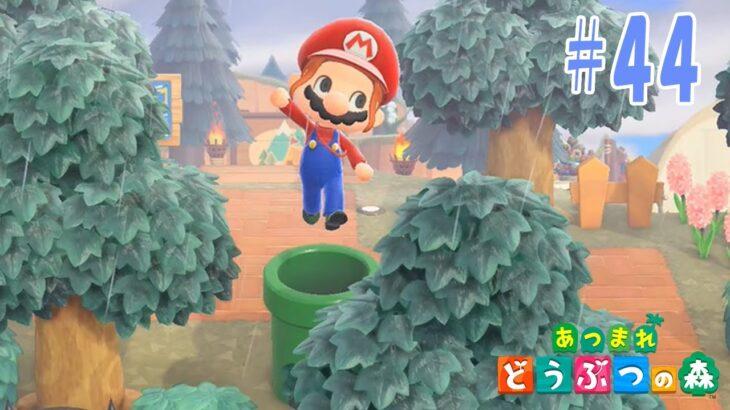 【あつまれどうぶつの森 #45】3月、マリオ家具が登! & 1st記念ケーキは、もちろん無人島、崖モチーフね!