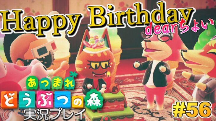 【あつ森】ちょいの誕生日!あつまれ どうぶつの森 実況プレイ!#56【Switch】