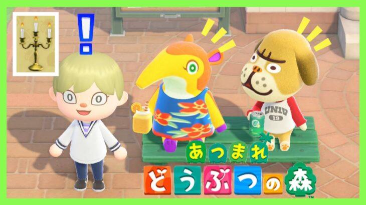 【あつ森】黄金DIYレシピ「黄金の燭台」をゲット #135【あつまれ どうぶつの森】<Animal Crossing>