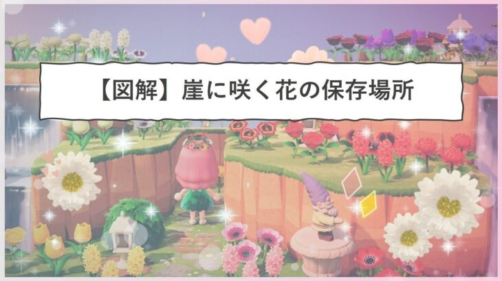 【あつ森】図解!全種類の花の置き場所作り方解説!必要な土地は?保存しておく花の本数は?住宅街へ続く、自然あふれる花の道【あつまれどうぶつの森】