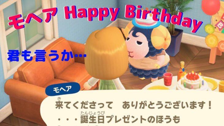 【あつまれどうぶつの森】モヘア誕生日!君も言うか・・