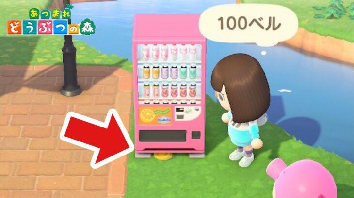【あつ森】自販機の下に小銭?どうしよ【あつまれどうぶつの森】