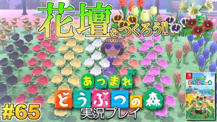 【あつ森】巨大花壇をつくろう!あつまれ どうぶつの森 実況プレイ!#65【Switch】