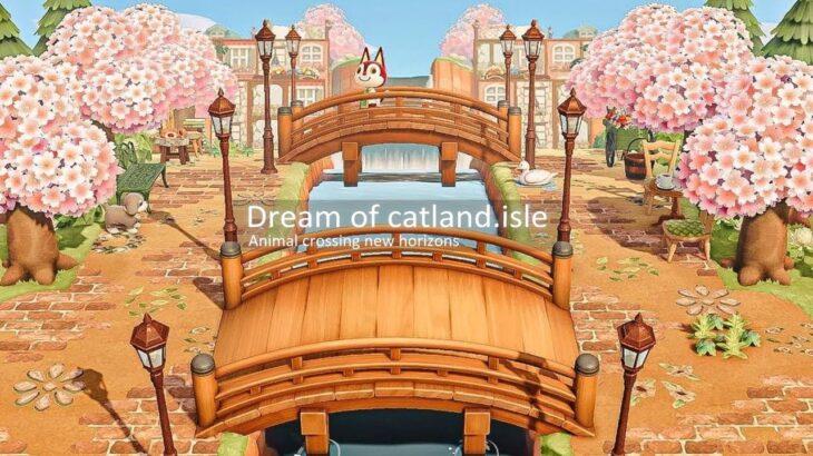 【あつ森】島紹介 catland島 夢訪問【あつまれどうぶつの森】ピンク×グリーンに統一されたとても可愛いcatland島を紹介します