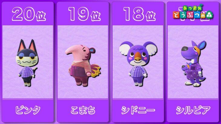 【あつ森】ミステリアス!紫が似合うどうぶつランキング!【あつまれどうぶつの森】