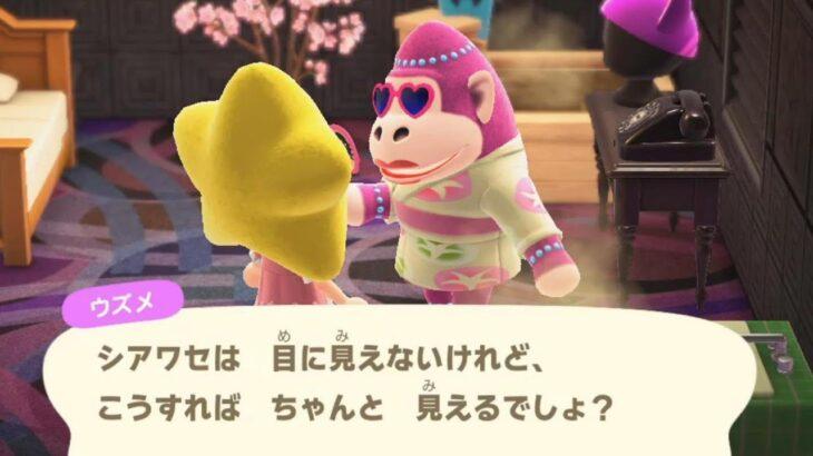 【あつ森】ウズメサマー11☆離島に行って新住民を探す