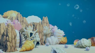 【あつ森】島クリエイト 海底集落 【あつまれどうぶつの森】貝殻家具やマーメイド家具を使って海底集落を作る!作り方紹介