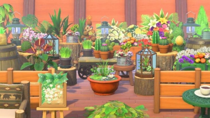 【あつ森】島クリエイト 様々な植物を使ったガーデンショップを作る 【あつまれどうぶつの森】作り方紹介